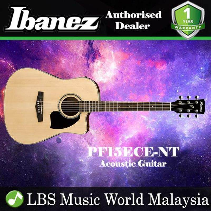Ibanez PF15ECE-NT Natural High Gloss Dreadnought Cutaway Acoustic-Electric Guitar (PF15ECE) Malaysia