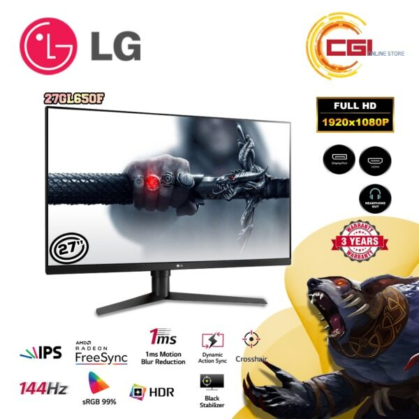 9.9 LG Gaming Monitor 27 27GL650F UltraGear 144Hz 1ms HDR10 IPS FreeSync Malaysia