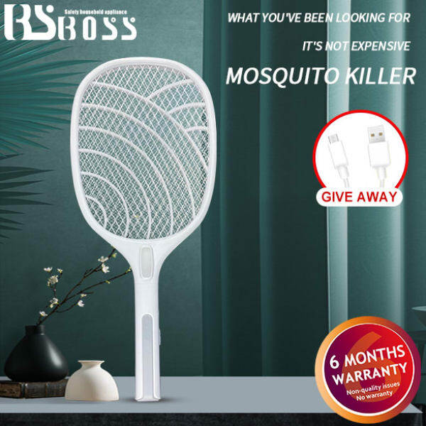 BS BOSS USB rechargeable electric mosquito swatter with lights Fly mosquito killer