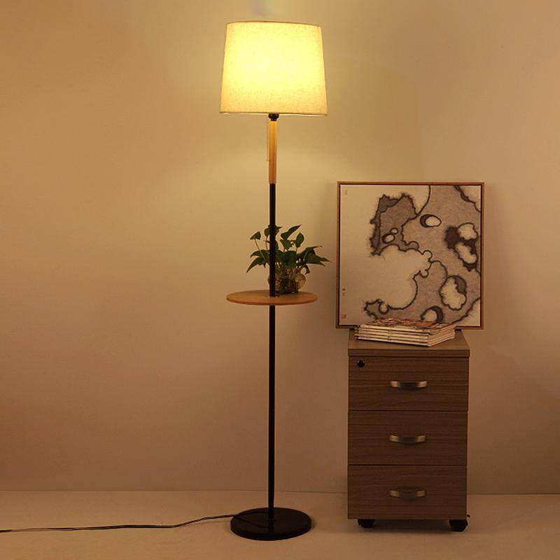 Nordic Creative Solid Wood Warm Bedroom Bedside Lamp Designer Living Room Simple Modern Floor Lamp Hotel Wood Lamp