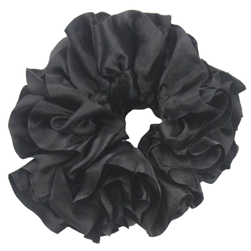 Volumising Velvet Scrunchie Plain Big Hair Tie Bun Clip Hijab Volumizer/_S,Deko