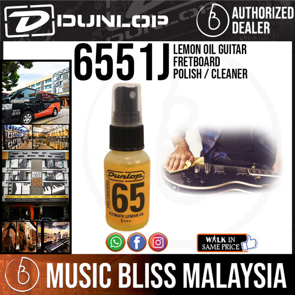 Jim Dunlop 6551J Lemon Oil Guitar Fretboard Polish / Cleaner Malaysia