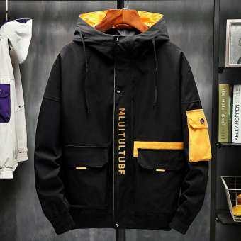 RUIG เสื้อแจ็คเก็ต น้ำหนักเบาแจ็คเก็ตแจ็คเก็ตฤดูใบไม้ร่วงผู้ชายใหม่ 2019 แจ็คเก็ต Hooded JACKET