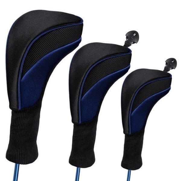 3 Cái/bộ Golf Head Covers Driver 1/ 3/ 5 Fairway Woods Headcovers Cổ Dài Head Covers Cho Golf Câu Lạc Bộ
