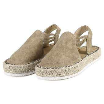 〖Free Shipping〗Waldenshop COD ผู้หญิงฤดูร้อนแฟชั่นรองเท้าส้นสูงของสตรีเวดจ์แพลตฟอร์ม Retro Peep Toe รองเท้าแตะ-
