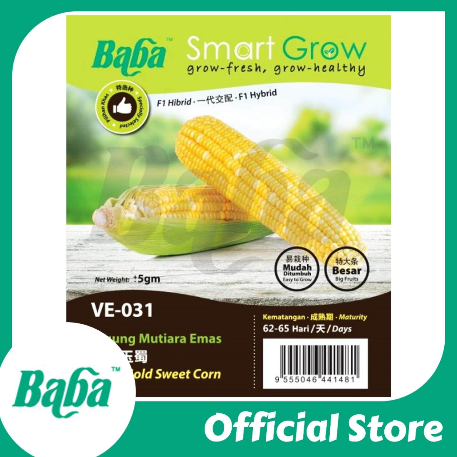 Baba VE-031 Smart Grow Pearl Gold Sweet Corn Seed - Vegetable Seed [5g]