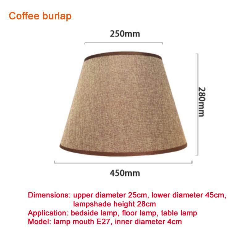 Table Lamp lampshade Accessories E27 Linen Bedside Lamp Wall Lamp Floor Lamp Shade Cloth upper diameter 25cm, lower diameter 45cm