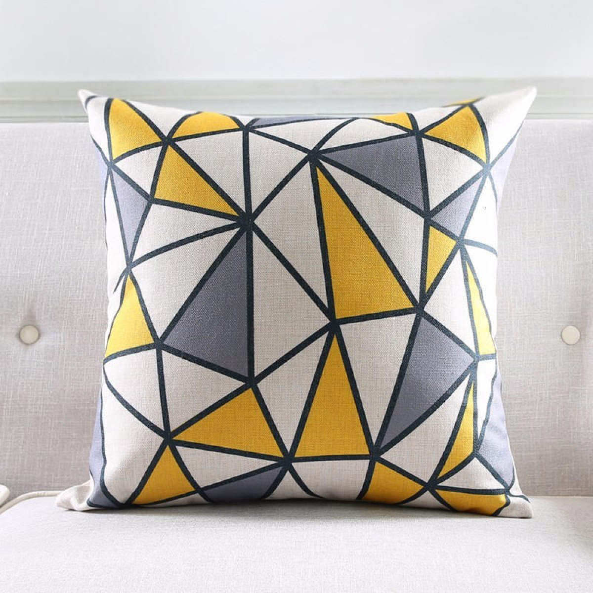 Style Nordic Cushion Cover Gray Yellow Red Decorative Pillows Geometric Cushions Covers Home Decor Throw Pillow Case 45 45cm Lazada