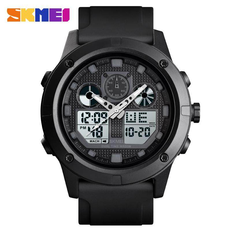 SKMEI New Men Fashion Watches Sports Digital Watch Alarm Chrono Dual Display Waterproof Casual Wristwatches 1514 Malaysia
