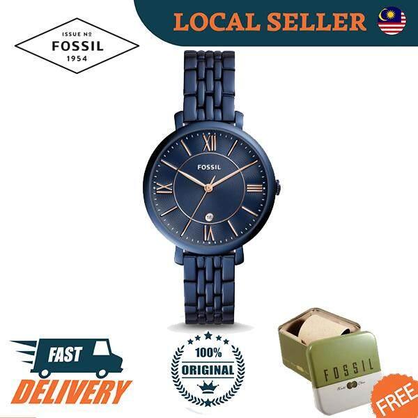 [Authentic] Fossil Jacqueline Three-Hand Date Blue Stainless Steel Women Ladies Watch Jam Tangan Wanita ES4094 Jam Tangan Wanita Malaysia