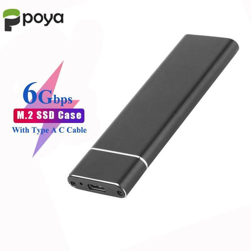 M.2 SSD Enclosure B Key to USB3.0 Adapter Case Support 2242 2260 2280 6GB//S