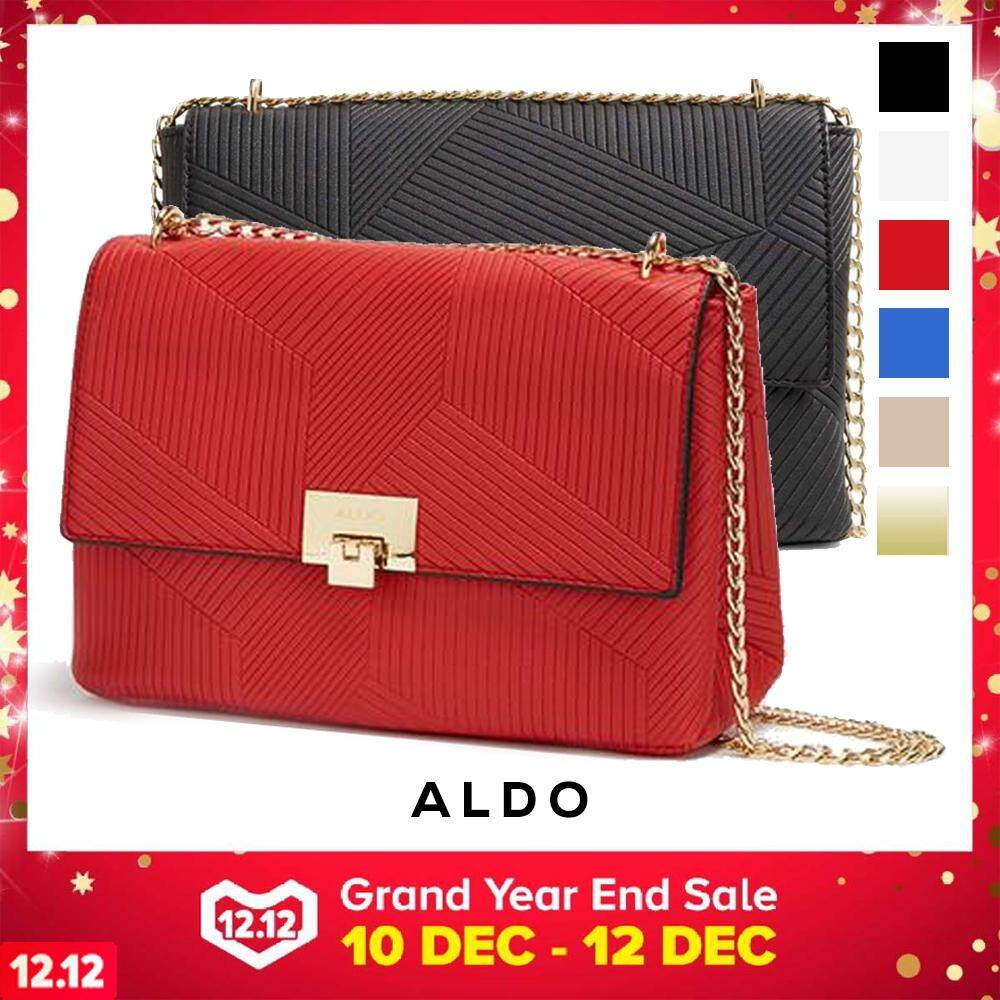 Authentic Aldo Fair Textured Elegant Keylock Closure Evening Crossbody Messenger Sling Shoulder Bag Handbag