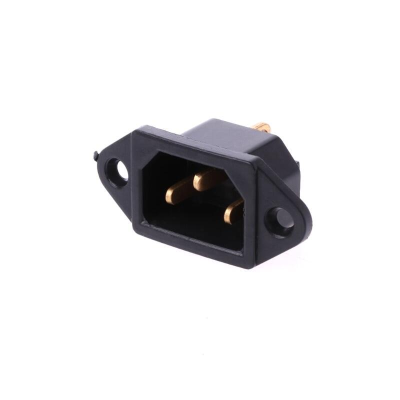 10 Cái/bộ Ac 250V 10a 3-Pin Thiết Bị Đầu Cuối Iec320 C14 Inlet Cắm Điện Ổ Cắm, Đen