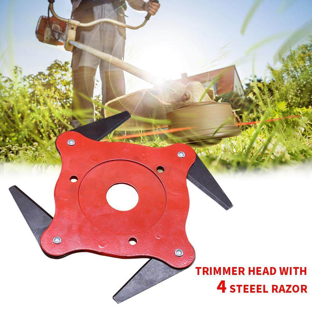 SilyNew 4T Blade Steel Razor Mower Grass Trimmer Head Cutter For Garden  Lawn Accessories,Universal Fit 99% Strimmers Replacement Mowing Head Tool