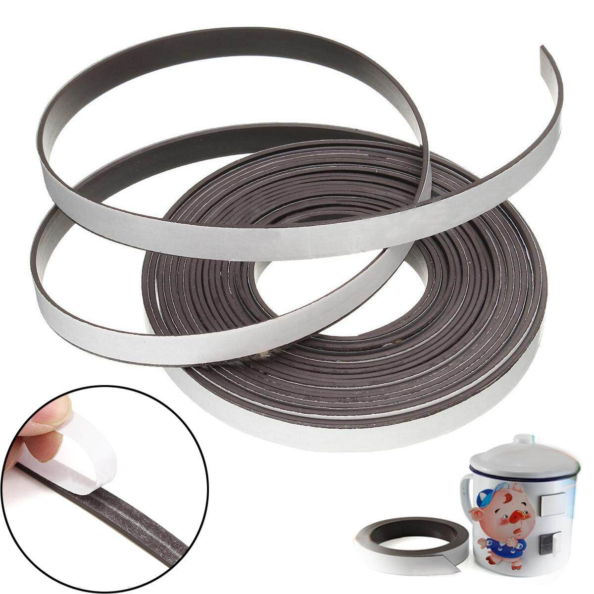idealhere New 1M/5M Rubber Self Adhesive Magnetic Stripe Flexible Magnet DIY Strip Tape