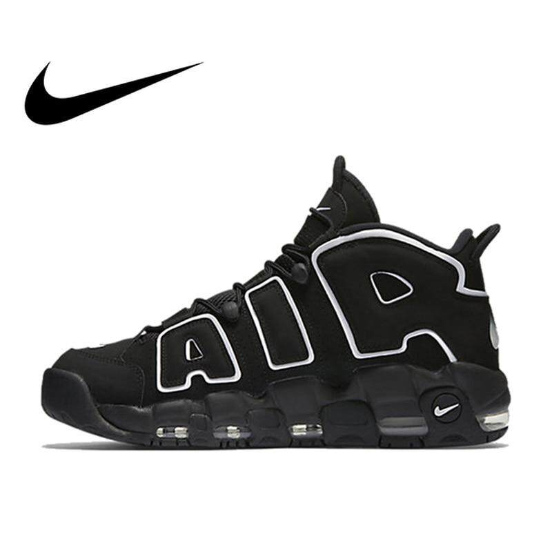 a1b250de5e2 Nike Max Air More Uptempo Men s Breathable Basketball Shoes Sports Sneakers  Outdoor Medium Cut Shoes