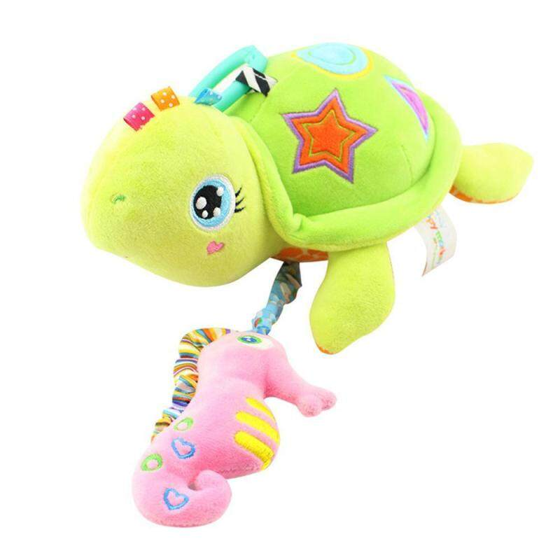 GoodGreat Cute Hanging Stroller Crib Pull Bell Musical Toys, Baby Soft Rattle Crinkle Squeaky Toy - Colorful Animal Shape Toy for Crib Bed Bassinet Singapore