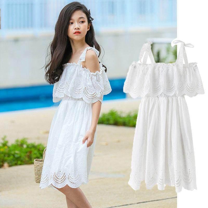 619501d09b47d Dress For Girles White 2019 Teenage Princess Dresses Girl Summer Style Knee  Length Children Clothing
