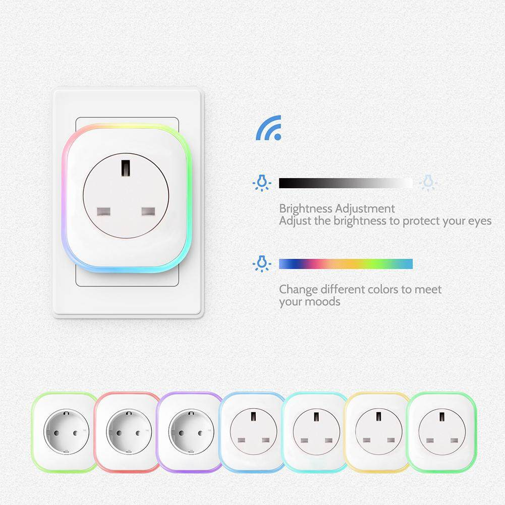 Techtopest-WiFi Smart Plug with Night Light Work with Amazon Alexa Google Assistant IFTTT