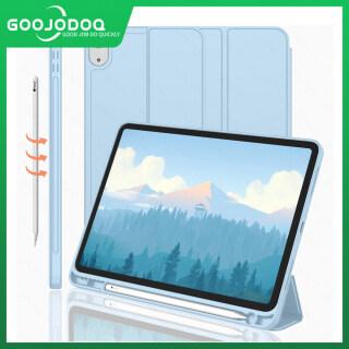 Ốp iPad GOOJODOQ Cho iPad 10.2, Vỏ Bọc Bảo Vệ Toàn Diện Bằng Silicon Mềm TPU Tự Động Tắt Tắt Mở Cho iPad Air 1 2 3 9.7 2017 2018 10.5 iPad Pro 11 2020 iPad Air 4 bút Chì) thumbnail