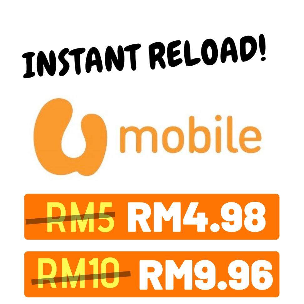Umobile Instant Prepaid Reload Rm5 & Rm10 By Erynie Enterprise.