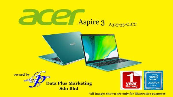 Acer Aspire 3 A315-35-C1CC (Celeron N4500/4GB/256GB SSD/14/Win10/3Y/Electric Blue) Malaysia