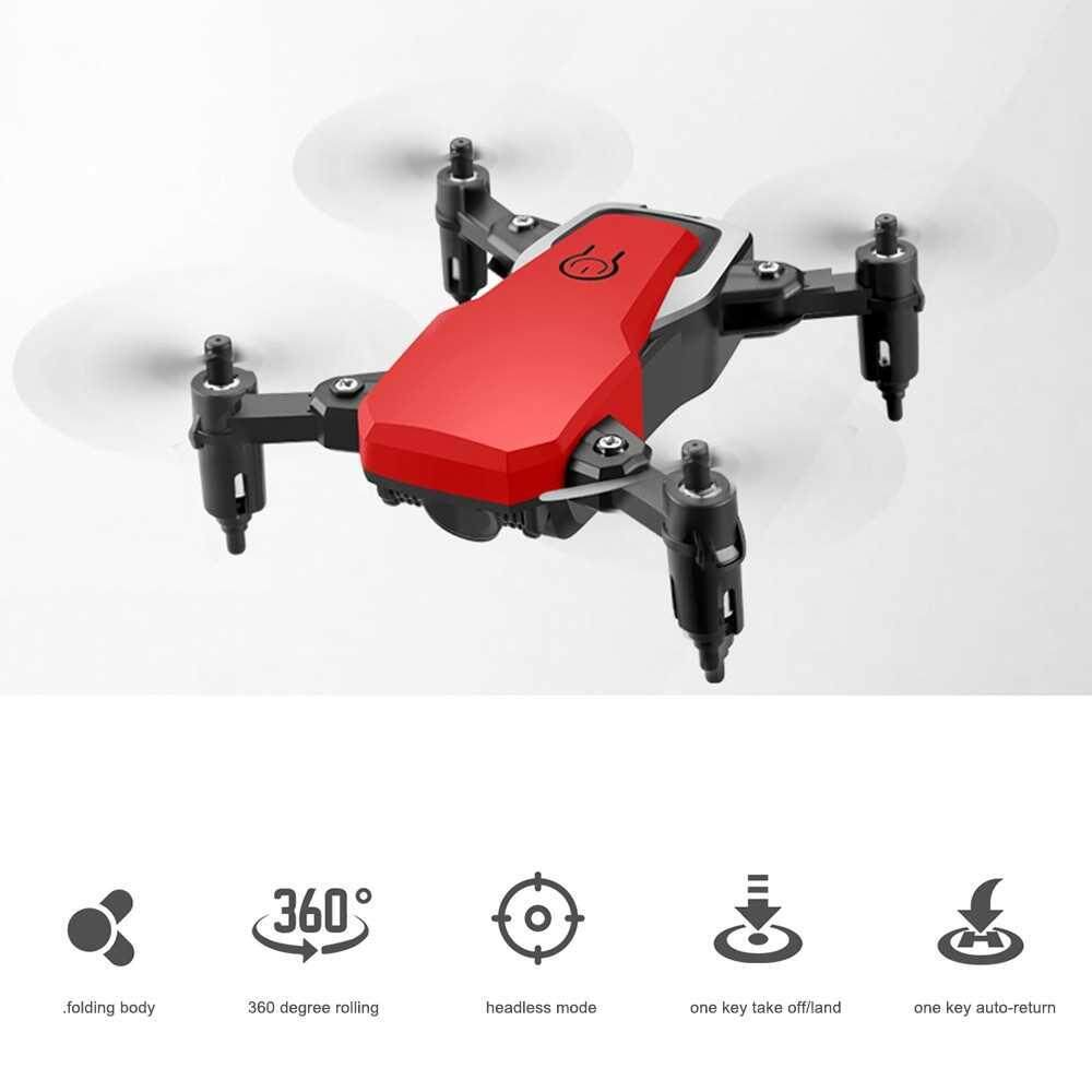 LF606 RC Drone Mini Drone 360 Degree Rollover 2.4G Speed Switching Headless Mode RC Quadcopter for Kids Beginners (Red)