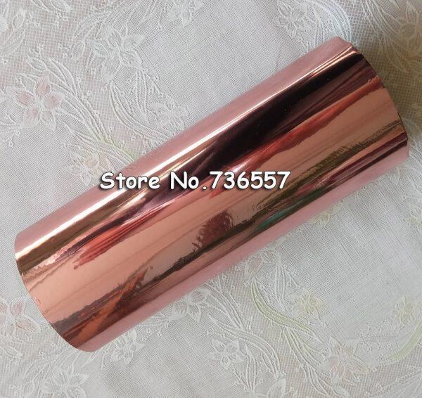 Mua Rolls Rose Gold Hot Foil Stamping Giấy Ép Nóng Chuyển Anodized Mạ Vàng Giấy Hồng Vàng Nóng Lá 16Cm X 120M