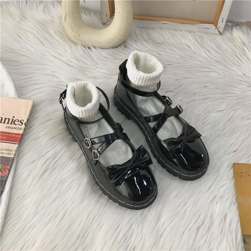 Lolita Giày Da Nhỏ Kiểu Nhật Bản Mới Mùa Thu Jk Nữ Mùa Hè Sinh Viên Giày Đơn Mary Jane Đế Bệt Mềm Phiên Bản Hàn Quốc 100 giá rẻ