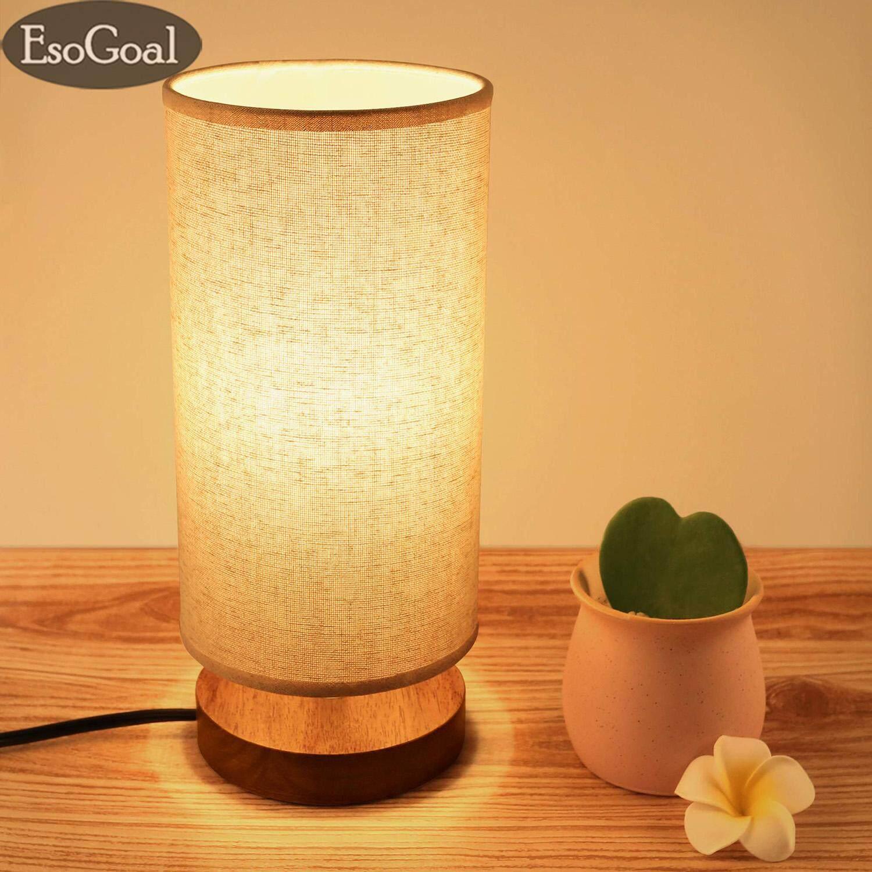 EsoGoal Table Lamp,Lighting Best Seller Soft Night Light Side Table Lamp with 1.8M USB Line and Free 5V Bulb