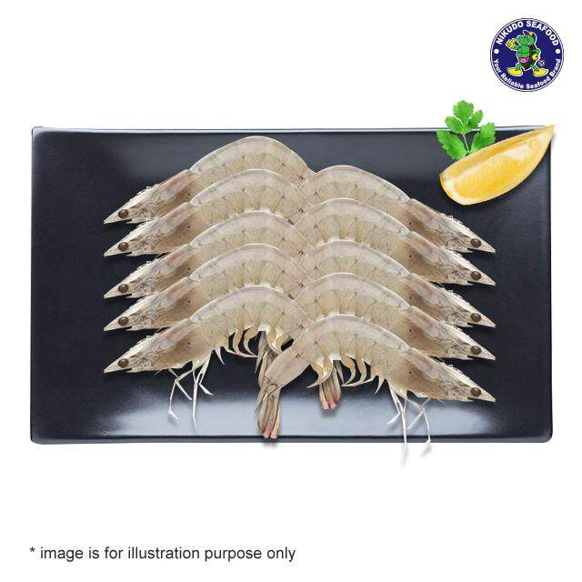 (KL & Selangor Delivery Only) Nikudo - Sabah Vannamei Prawn Head On Shell On (500g) ±16pcs
