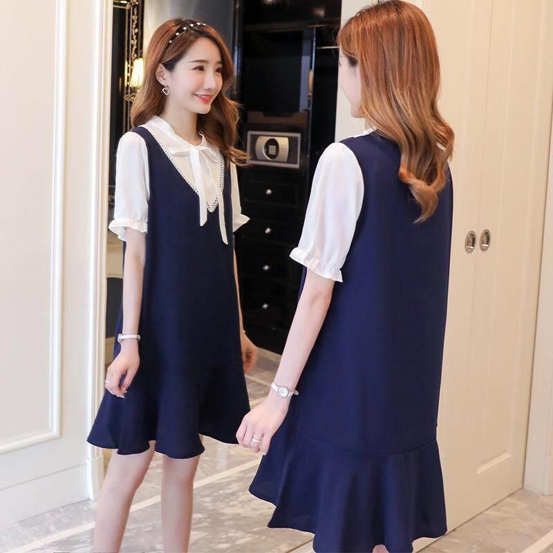 dd70b11546 Summer Women's Dress Long Korean Loose Chiffon Skirt