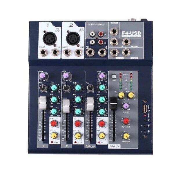 GAX-UF4 Bộ Trộn Âm Thanh Mini 4 Kênh Giao Diện USB, Hoàn Hảo Cho Karaoke Gia Đình