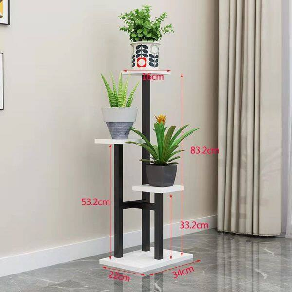 Balcony iron flower stand living room household floor-to-floor outdoor high flower pot stand crab and claw orchid green and luflower shelf Indoor