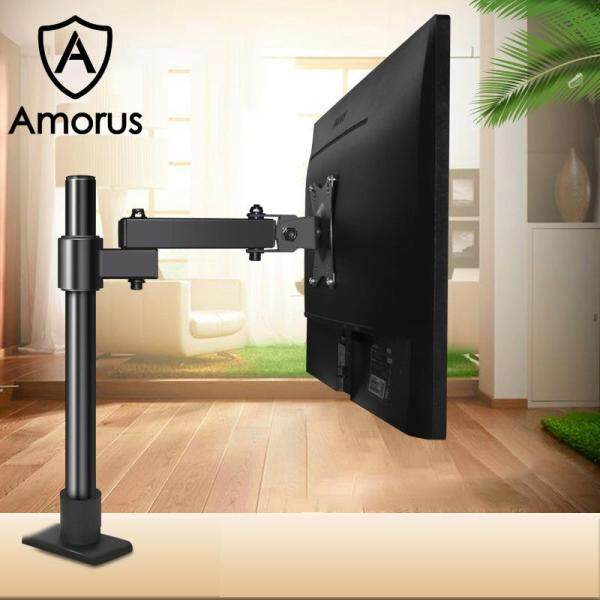 Amorus ZJ014 Adjustable Height Monitor Desk Mount 14-27 inches Computer Screen Holder Stand