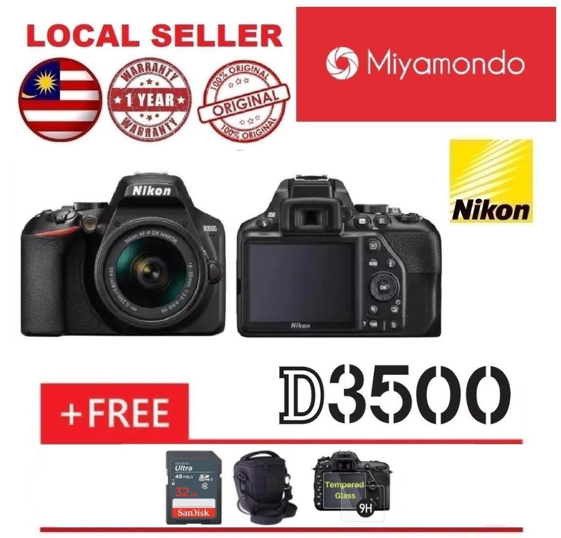 Nikon D3500 Dslr Camera With 18 55mm Lens 32gb Bag Tempered Glass