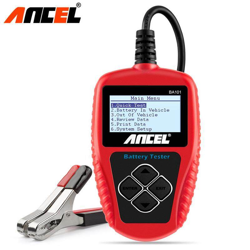 Ancel BA101 Car Battery Tester 12V 100-2000CCA 30-220AH with Cranking and  Charging Test Digital Auto Battery Analyzer Battery Start Test Tool Support