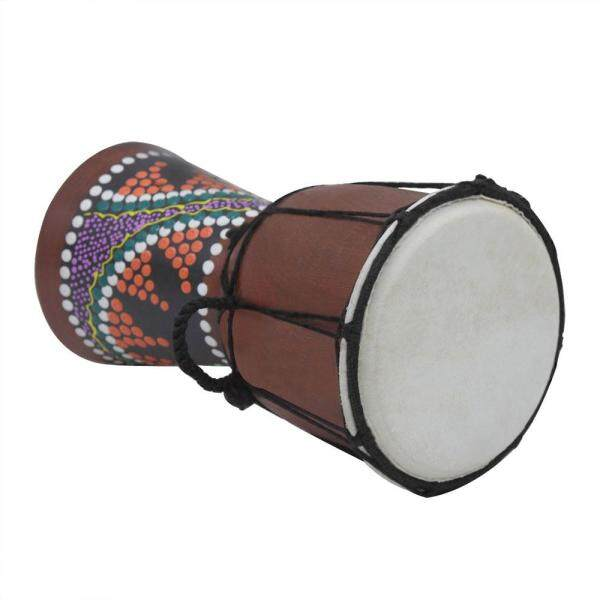 4 Inch Compact Size Wooden African Drum Djembe Bongo Hand Drum Percussion Musical Instrument with Colorful Pattern (Patterns Random Delivery) Malaysia