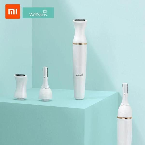 Máy Tỉa Lông Mày Xiaomi Youpin Wéllskins Máy Tẩy Lông Toàn Thân Bằng Điện Đầu Xoay 30 ° Có Thể Điều Chỉnh Dùng Cho Phụ Nữ Máy Cạo Râu 6 Trong 1 Với 1 Pin AAA