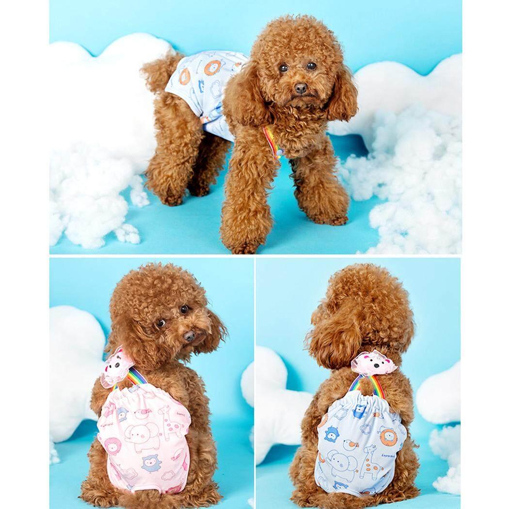 Chó Tã Có Thể Giặt Có Thể Tái Sử Dụng Vệ Sinh Pantie Chó Bông Tã với Suspender cho Nữ Chó XS 8