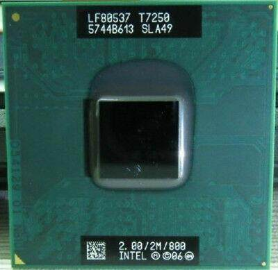 Intel Core 2 Duo T7250 2M Cache, 2.00 GHz, 800 MHz Notebook Laptop Cpu Processor Refurbished