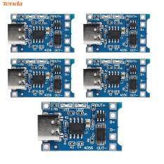 5 Bảng Mạch Mô-đun Sạc Pin Lithium TP4056 1A, Bảo Vệ W/USB Type-C