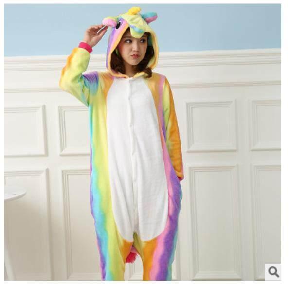 2075a203ad 2019Women Animal Unicornio Onesie Kigurumi Pajamas Set Adult Unisex Unicorn Pyjamas  Costume Sleepwear for Kid Suit
