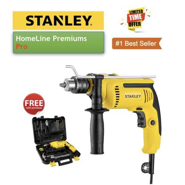 STANLEY SDH700KV 650W 13M IMPACT DRILL VALUE PACK 18PCS WITH KITBOX