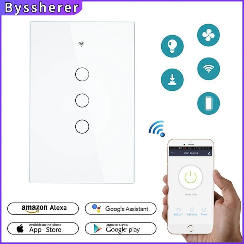 Byssherer Thông Minh Phát Wifi MỸ 120 Loại 3 Băng Đảng Hỗ Trợ RF433 Điều Khiển Thanh Niên Phiên Bản Không Dây Điều Khiển từ xa Cho Google Alexa giá rẻ