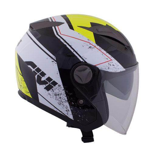Original GIVI M30.2 Presto Graphic Racing Black Motorcycle Helmet