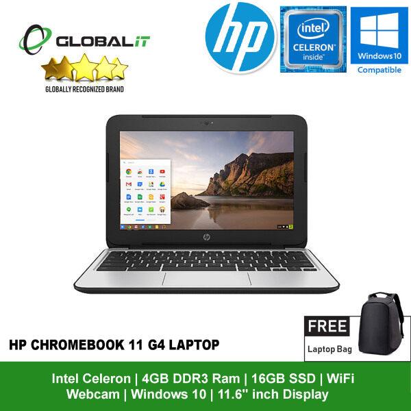 (Refurbished Notebook) HP ChromeBook 11 G4 Laptop / 11.6 inch Display / Intel Celeron / 16GB SSD / 4GB DDR3 Ram / WiFi / Windows 10 / Webcam Malaysia