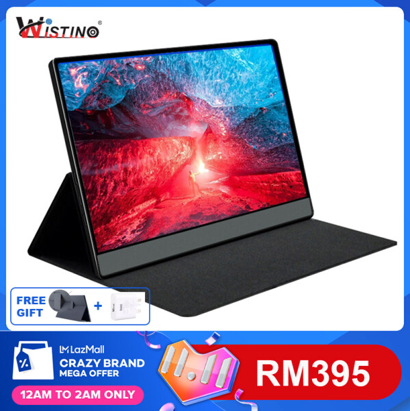 Wistino 13.3 inch 1080P 60hz HDR Gaming Portable Monitor USB Type-C IPS ultra slim for office and Gaming Consloe Switch PS4 XBOX ONE Malaysia