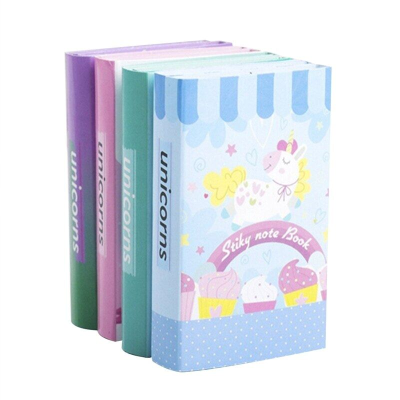 1 Pc Cartoon Unicorn Memo Pad Dream Trojan Horse Sticky Notes Memo Notebook Weekly Planner Stickers Stationery School Supplies