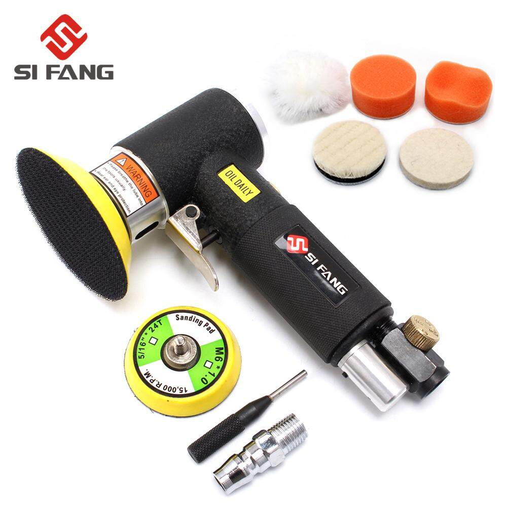2inch 3inch black Pneumatic Polishing Grinding Machine Mini Orbital Air Sander Air Tools Buffer Dual Action Orbital Polisher for Car 1set